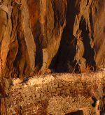 Tunnel through rock cliffs